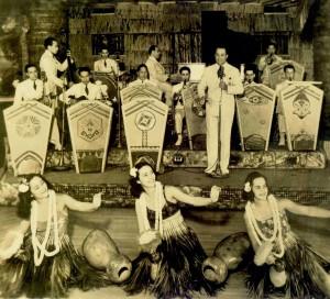 Performers at The Hawaiian Room in New York City. Photo credit: Hula Preservation Society.