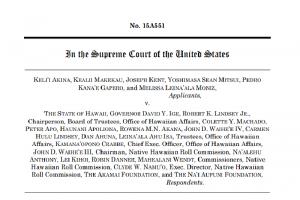 Lawsuit filed by plaintiffs against Na'i Aupuni.