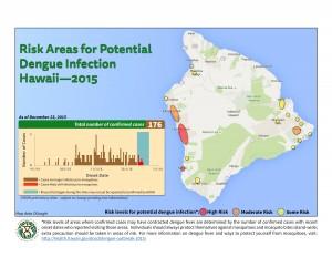 Big Island dengue map, Dec. 23, 2015.