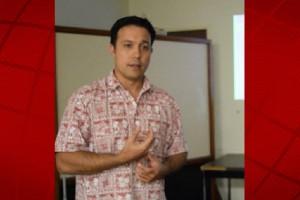 Jason Dela Cruz speaks at Thursday community meeting. Photo: Jamilia Epping.