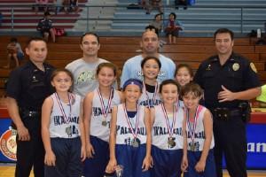 Kalakaua, winners of the HI-PAL Winter Basketball Classic Tournament's girls 8-and-under division. HI-PAL photo.
