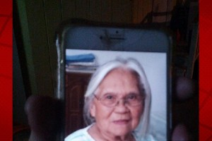 A photo of missing woman Luciana Flores, as shown on an unidentified person's cell phone. HPD photo.