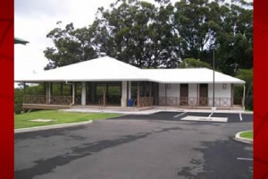 The North Hawai'i Education and Research Center pavillion. UH-Hilo file photo.