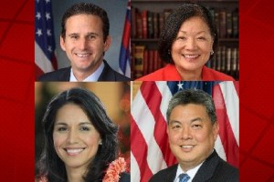 Congressional Delegation: Senator Brian Schatz, Senator Mazie Hirono, Congresswoman Tulsi Gabbard, and Congressman Mark Takai. U.S. Sentate photos.