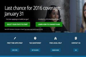 HealthCare.gov screenshot.