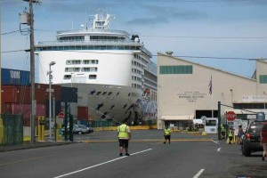 A cruise ship docked at Hilo's Pier 1. File photo.