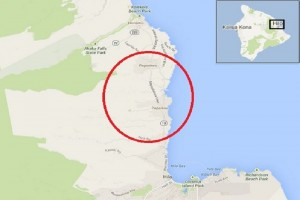 The smoke test will take place in the Papaikou area of the Big Island between Jan. 11 and Jan. 15. Google maps image.