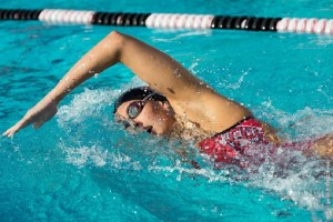 Cal State East Bay swimmer Madison Hauanio. Photo credit: Trevor Will