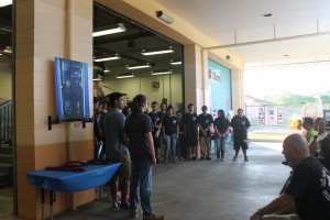 Keaau High School students gather to be recognized during the PISCES Remembrance Day Event and Unveiling Ceremony at Kea'au High School on Jan. 28. PISCES courtesy photo.
