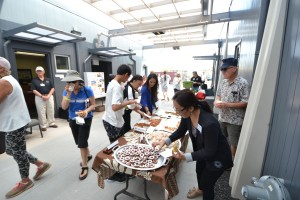 Food samples at the Open House and Grand Opening Celebration. Hawai'i Community College – Pālamanui photo.