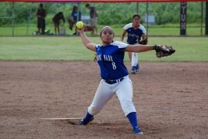 Waiakea High School graduate Chelsea Camello, who is now a senior at Chaminade University. Chaminade Athletics photo.