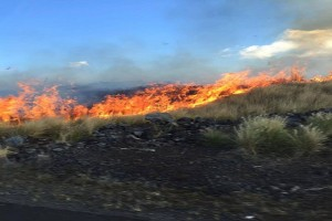 Photo of one of the fires, taken on Thursday. Photo credit: Jewls Dupre.