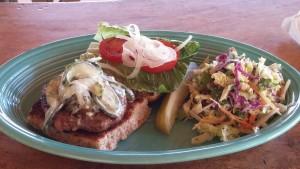 Lamb Burger. Photo credit: Marla Walters.