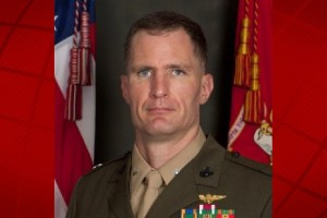 Lieutenant Colonel Edward Pavelka, the former commanding officer of Marine Heavy Helicopter Squadron 463. Marine Corps. photo.