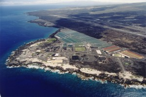 An aerial view of the National Energy Laboratory of Hawaii Authority at Kona's Keahole Point. DBEDT photo.