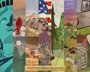 The NPS Traveling Quilt Exhibit poster. NPS Photo.