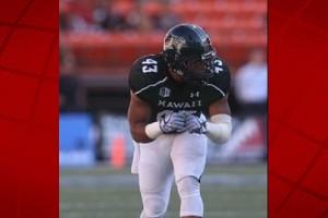 University of Hawai'i defensive back Damien Packer. UH photo.