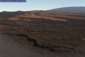 One of the new tools deployed by the USGS Hawaiian Volcano Observatory to better monitor the current unrest on Mauna Loa is a webcam focused on the volcano's Southwest Rift Zone, which has been the site of eruptions in 1903, 1916, 1919, 1926, and 1950. USGS image.
