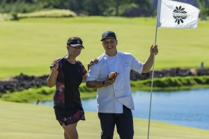 Chef Allen Hess is pictured at the Waikoloa Kings' Golf Course, the location of his newest restaurant Mai Grille. Waikoloa Beach Resort file photo.