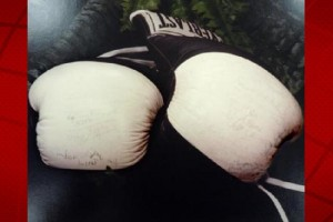 The Hawai'i Police Department is in search of a pair of Everlast boxing gloves with 1984 Olympic Games boxers and referee participant signatures. HPD provided image.