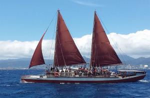 Hikianalia. Photo credit: Keʻopu Reelitz/Polynesian Voyaging Society.
