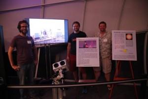 Subaru Scientists explaining Project PANOPTES. 'Imiloa Astronomy Center image.