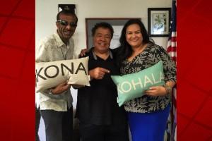 Abbas Hassan, Sam Choy and Kirstin Kahaloa. Kona Kohala Chamber of Commerce courtesy photo.