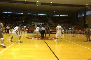 Kamehameha-Hawai'i and Kealakehe played in the semifinals of the 2015 BIIF Boys Basketball Tournament. File photo by Josh Pacheco.