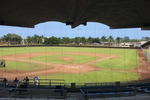 Wong Stadium hosted Saturday's tilt between Honoka'a and Hilo. Photo by Josh Pacheco.