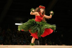 52nd Merrie Monarch Hula Festival, Miss Aloha Hula, Jasmine Kaleihiwa Dunlap. Merrie Monarch Festival Facebook photo from 2015.