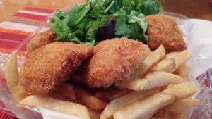 Fish and chips. Photo credit: Marla Walters.