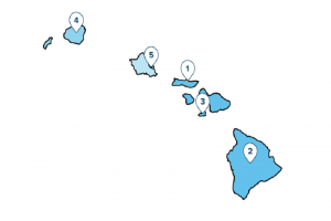 This graphic shows the ranking of each County in Hawai'i in Smart Asset's Tax Burden Index. SmartAsset image.