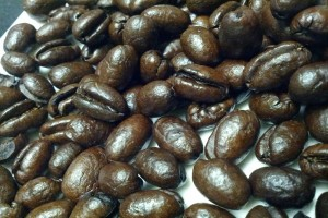 Kona coffee beans. File photo by Kristin Hashimoto.