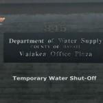 Pāpaʻikou Water Main Break Alert