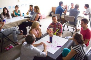 Entrepreneurs engaged in a business development workshop facilitated by Impact Hub Honolulu. Photo credit: Jonathan Swanz, cofounder of Impact Hub Honolulu.