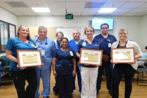 Employees in the attached photo are from left to right: Front row: Hailey de la Torre, Chris Colgrove, Daisy LaDorre, Lynn Reinert and Rose Keith Back row: Dawn Gallardo, Mike Savage, and Ray Augustinus. KCH photo.