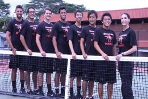 UH-Hilo men's tennis team. UH-Hilo photo.