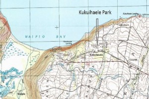 Map location of Kukuihaele Park. Image from County of Hawai'i Draft Environmental Assessment.
