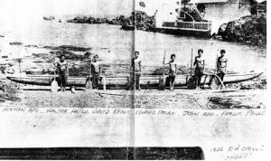 """Historical photo of the Malolo and crew. """"The Malolo Project"""" photo."""