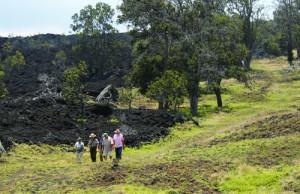 Visitors enjoy the People & Land hike in Kahuku. NPS Photo/Jay Robinson.