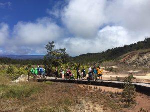 NPS Photo of visitors at Sulphur Banks in Hawai'i Volcanoes National Park.