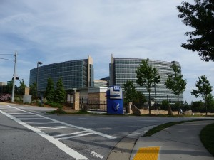 Centers for Disease Control and Prevention in Atalanta, Ga. main entrance. Wikki Commons photo.
