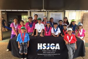 Winners gather for a photo from last weekend's Junior Tour Series 14 & Under event at Mililani Golf Club. Photo courtesy: Hawai'i State Junior Golf Association.
