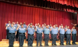 Graduates Oath of Duty. Department of Public Safety photo.