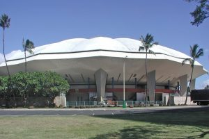Neal Blaisdell Arena, site of the New City Nissan/HHSAA Division Boys Volleyball Championship matches. Wikipedia photo.