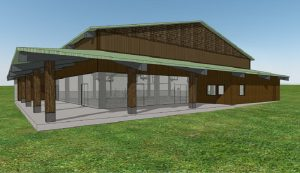 Rendering of HPA's Village Campus $2 million multi-purpose covered play area. Courtesy image.