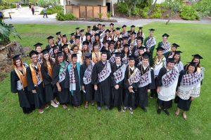 2015 Hawai'i Community College graduates. Hawai'i CC file photo.