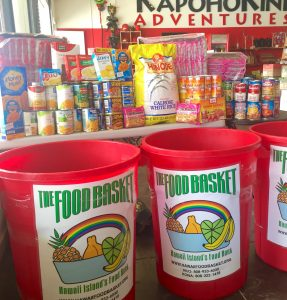 KapohoKine Adventures photo of Hawai'i Food Basket collection bins.