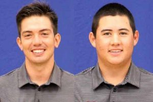 University of Hawai'i at Hilo golfers Kyeton Littel (left) and Jared Kinoshita. UH-Hilo photos.