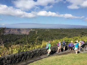 Hiking Crater Rim Trail. NPS Photo/J. Ferracane